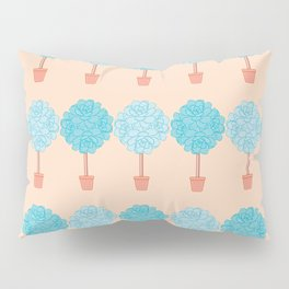 Succulent Topiary Pattern Pillow Sham