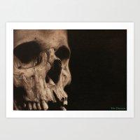 Skull study 2  Art Print