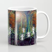 kodama Mugs featuring Kodama under the tree by pkarnold + The Cult Print Shop