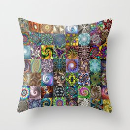 Fractals Montage Throw Pillow
