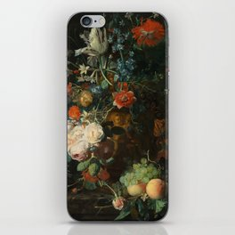 Jan van Huysum - Still Life with Flowers and Fruit iPhone Skin