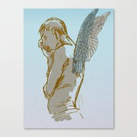 angel wings Canvas Prints featuring Angel Wings by Paulo Galvin