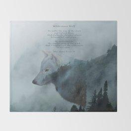 Wilderness Wolf & Poem Throw Blanket