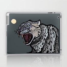 Snow Leopard Growling Laptop & iPad Skin