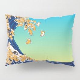 Shiba Inu in Great Wave Pillow Sham