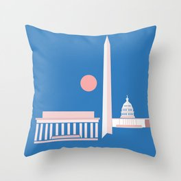 Washington D.C. City Print Throw Pillow