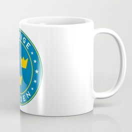 Sweden, Sverige, 3 crowns, circle Coffee Mug