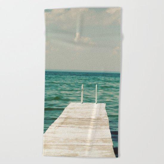 Mint Lake Escape  Beach Towel