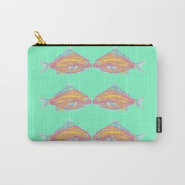 fish kissing little seafoam  Carry-All Pouch