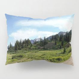 Turnoff to 12,840-foot Black Bear Pass - A Frightening and Dangerous Road Pillow Sham