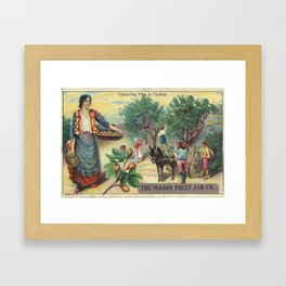 Vintage product Ad Card Framed Art Print