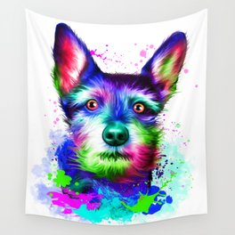 Terrier digital art Wall Tapestry