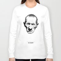 grumpy Long Sleeve T-shirts featuring Mr. Grumpy by Tom Kitchen