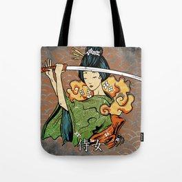 Samurai Woman, Geisha Warrior, Ronin, Gift to Any Martial Arts Girl Tote Bag