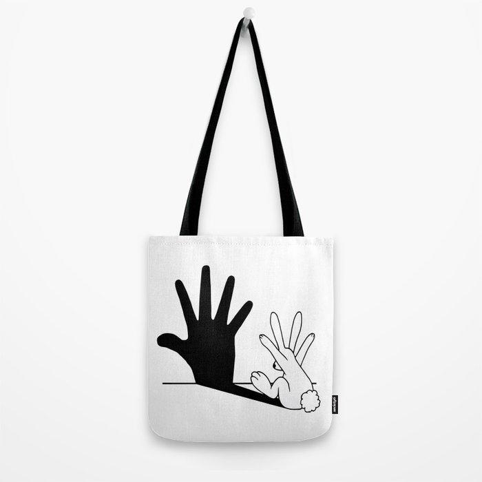 Rabbit Hand Shadow Tote Bag
