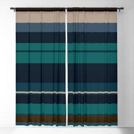 minimalistic horizontal stripes pattern hbi Blackout Curtain