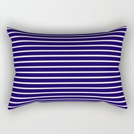 Blue White Stripes Rectangular Pillow