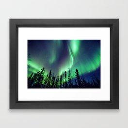 Northern Lights in Yellowknife Framed Art Print
