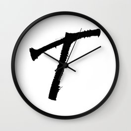 Letter T Ink Monogram Wall Clock