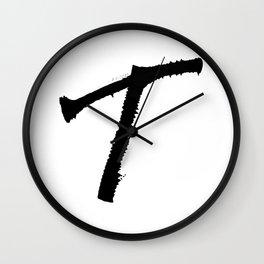 Letter T Ink Monogram Wall Clock