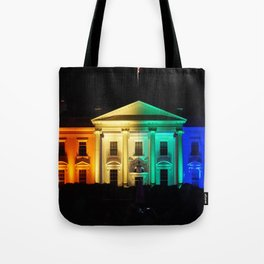 The White House in Rainbow Colors Tote Bag