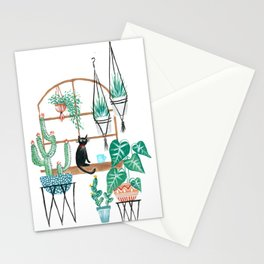 Plants Kitty Stationery Cards