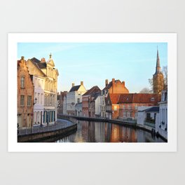 Belgium, City Canal 4 Art Print