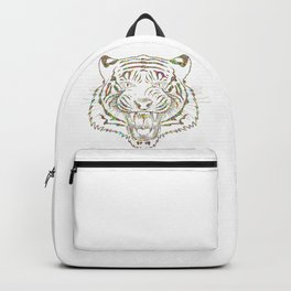 Psychedelic Colorful Tiger Backpack