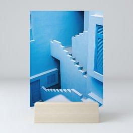 Blue maze of Muralla Roja Spain   Abstract photograph architecture art Mini Art Print