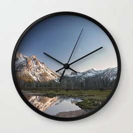 Reflections in Stanley, Idaho Wall Clock