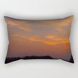 Red Rising Sun Rectangular Pillow