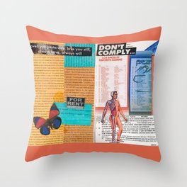 Don't Comply Throw Pillow