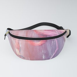 Flamingo in the Colored Rain #1 #tropical #decor #art #society6 Fanny Pack