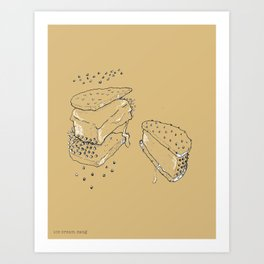 Exploded Ice Cream Sandwich Art Print