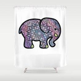 Galaxy Mandala Elephant Art Shower Curtain