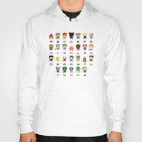 starcraft Hoodies featuring Video Games Pixel Alphabet by PixelPower