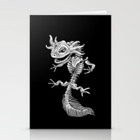 bouletcorp Stationery Cards featuring Axolotl Skeleton by Bouletcorp