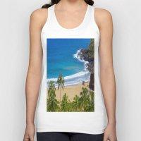 hawaiian Tank Tops featuring Hawaiian beach by Ricarda Balistreri