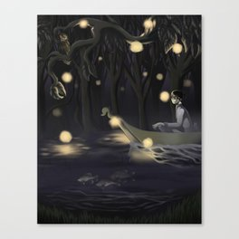 Kyouna and the Spring Canvas Print