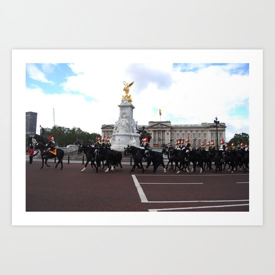 The Guards with their Horses 5 Art Print