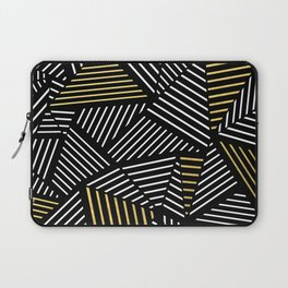 A Linear Black Gold Laptop Sleeve