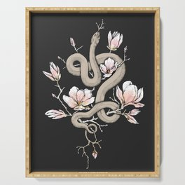 Magnolia and Serpent Serving Tray