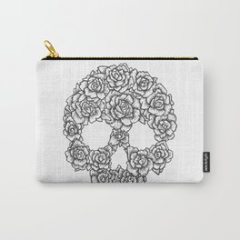 Skull of Roses Carry-All Pouch