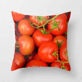 Vine Ripened Tomatoes Throw Pillow