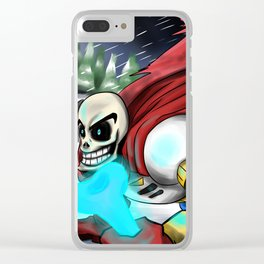 Papyrus| Undertale Clear iPhone Case