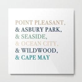 Shore Towns Metal Print
