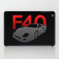 ferrari iPad Cases featuring Ferrari F40 by Vehicle