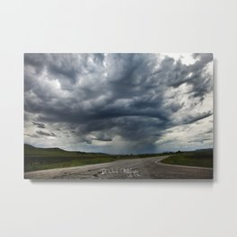 Storm Cell in Montana Metal Print