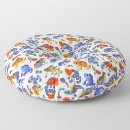 Poison dart frogs - bright Floor Pillow