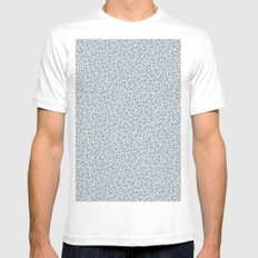 Crystallized (BLUE) Mens Fitted Tee MEDIUM White